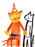 Happy Birthday doodle-of-the-day!2 by blackbluecat777