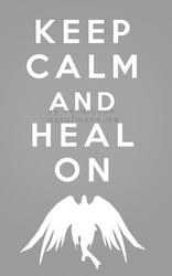 Keep Calm and Heal On Holy Priest by poisiongirl