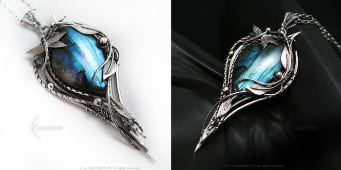 THAMADERITH Silver and Labradorite by LUNARIEEN