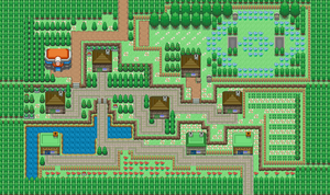 Azure Town Pokemon Primal- 1st gym by dirtywiggles