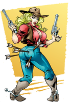 COMMISSION: Cowgirl by Peter-the-Tomato