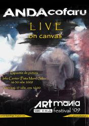 LIVE on canvas poster by Ansheen