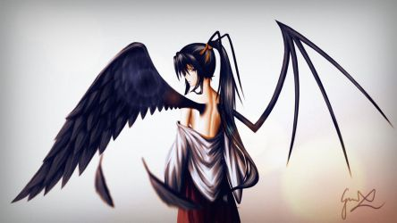Akeno's Wings - Highschool DxD by CaptainBombastic