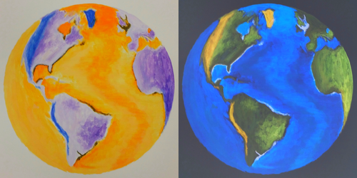 Inverted Earth Painting by IridescentCatalyst