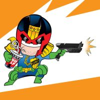 Dredd Chibi by Tom kelly by TomKellyART