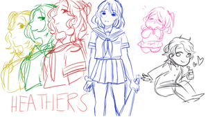 heathers japanese school girls au by oreosampai