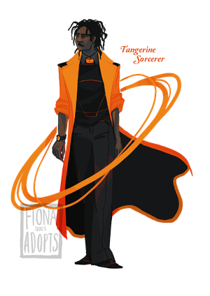 [closed] Adopt - Tangerine Sorcerer by fionadoesadopts
