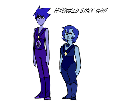 Iolite Sodalite Character Sheet Homeworld Outfits by Thea0605