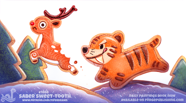Daily Paint 1858# Saber Sweet-Tooth by Cryptid-Creations
