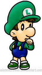 replaced pic: baby luigi by Nintendrawer