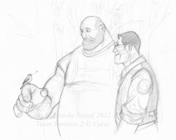 TF2 Something Small in Common -sketch- by birdofyore