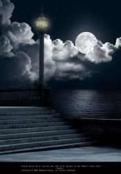 Premade Background-Night Sky by Lady-Lilith666