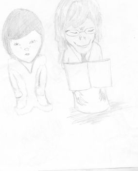Ugly Mikami and Takada puppets by otkmaster