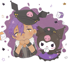 [enstars] adonis and kuromi by 82works