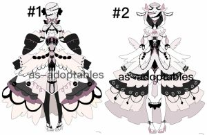 Blind princess outfit adoptables 1/2 by AS-Adoptables