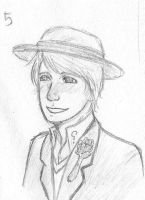 5th Doctor Sketch by sparklingblue