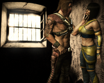 MKX - Erron Black X Tanya - In the Cell by SovietMentality
