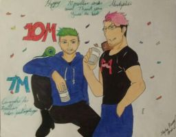 Happy 10 and 7 million subs Mark and Jack by DragonGoddess7