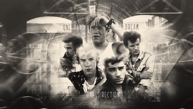 One Direction Wallpaper III b/w by wherestherain