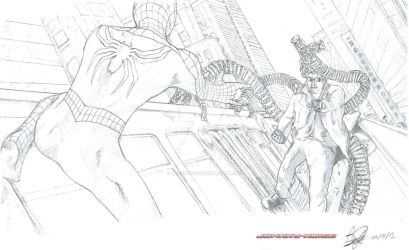 Spiderman 2 Spidey VS Doc Ock (Scan) by JohnnyNoise