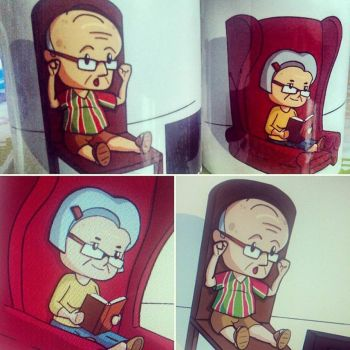 Mugs for grandpa and grandma by Luned13
