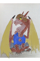 Confused Weredragon Colored by V8Arwing67