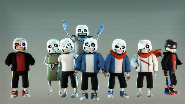 [SFM] Sans and AU vers by half5life