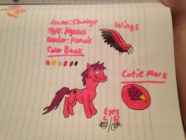 Flamingu the Pegasus Ref by FlamingGatorGirl