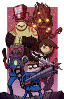 Guardians of OOO - Collab w Mike Vasquez by JoeHoganArt