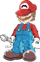it's a him Short Plumber man by xacuchina