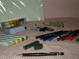 My common tools and mediums by EleganceOfArt