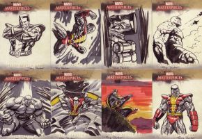 marvel masterpiece cards by TonyParkerArt