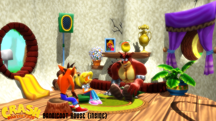 (MMD Stage) Bandicoot House (Inside) Download by SAB64