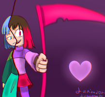 Glitchtale Betty (bete noire) redrawed by larisa203