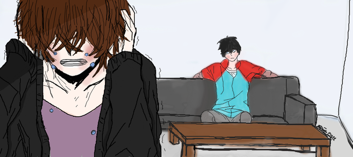 There's nothing wrong with us fanart phan by Plz-Humor-My-Ships