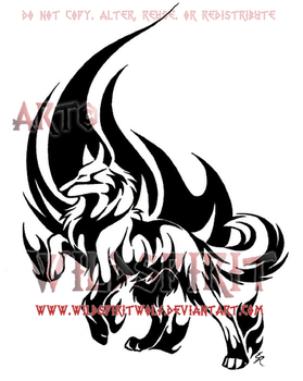 Noble Wolf Flame Tattoo by WildSpiritWolf