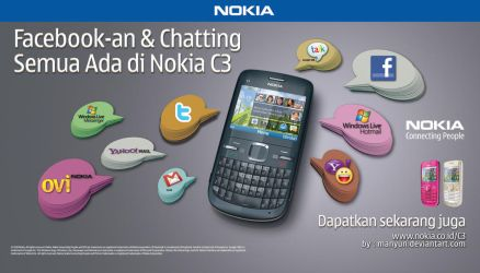 Wallpaper Nokia C3 by Manyun