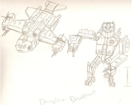 Rough Dreadnaut Concept by dracowheelz5