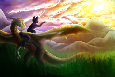 (com) Let's Chase that Sunrise! by GoldenGriffiness