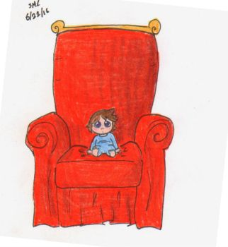 Smol child, big couch by ShoobaQueen