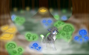 Ivypool in the Dark Forest by WhiteDragoness77