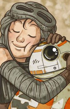Rey bae and her BB by megmcmuffins