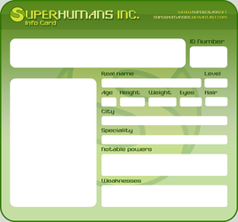 Superhumans Inc. Info Card by TheBourgyman