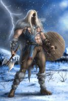 Viking Storm warrior by Destinyfall