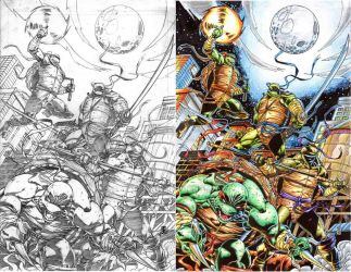 TMNT pencils inks and colors by warpath28