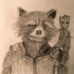 Rocket and Groot! by rawdrawing
