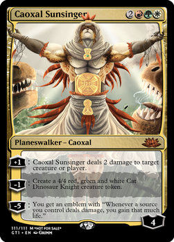 Caoxal Sunsinger - Planeswalker by Cryptos13