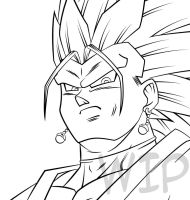 Black Vegetto WIP by Maniaxoi