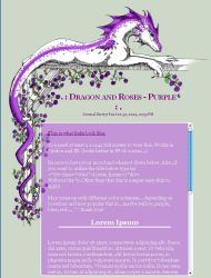 CSS Dragon and Roses - Purple by jennyleigh