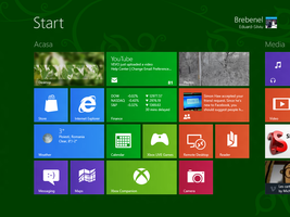 My Windows 8 CP Start Screen by Brebenel-Silviu